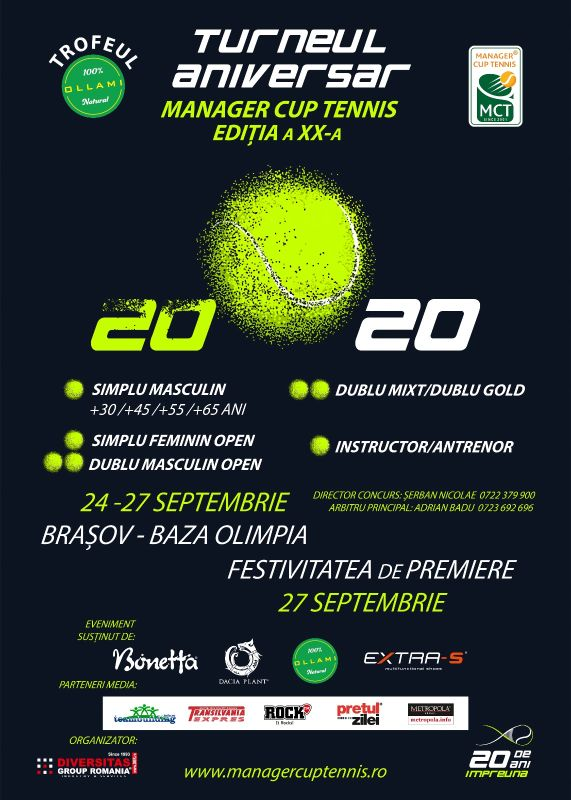 Turneul de tenis Manager Cup Tennis - Brasov 2020