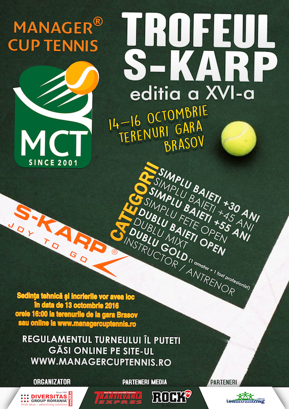 Turneul de tenis Manager Cup Tennis - Brasov 2016